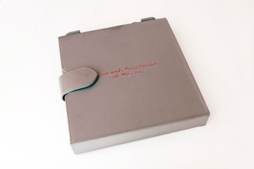 The casing for the photobook