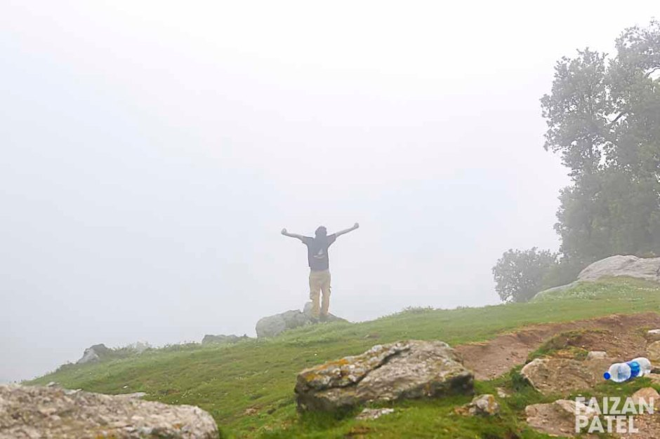 Finally reached Triund amidst all the rain.
