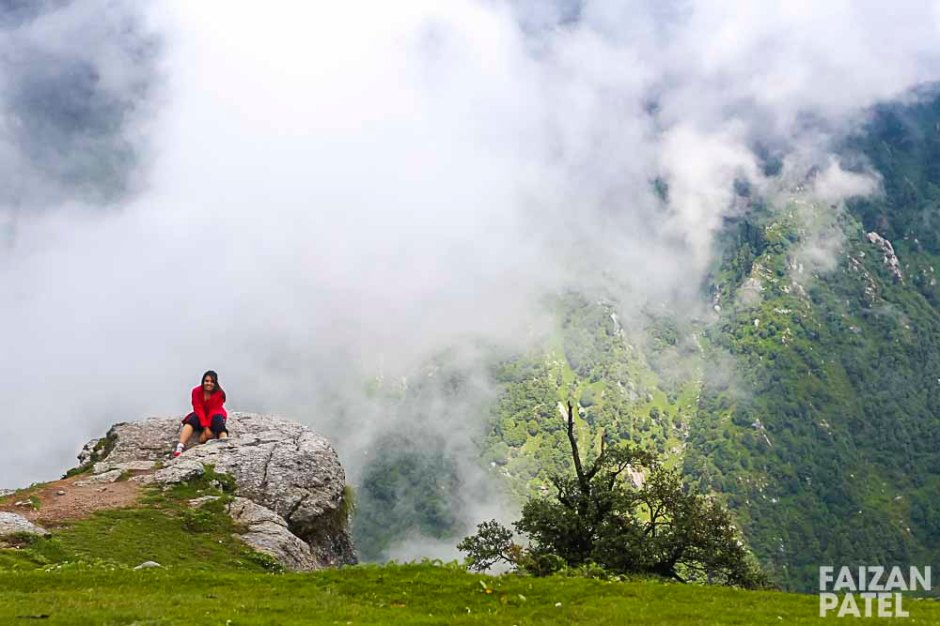 Triund is situated at 2843 mts.