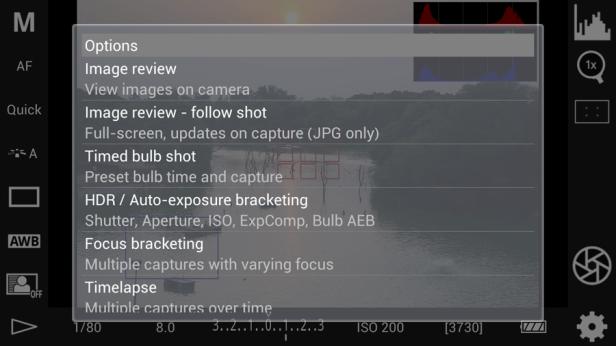 The option menu